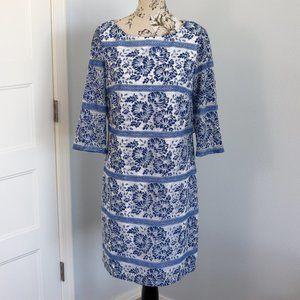 Jessica Howard White and Blue Lace Dress